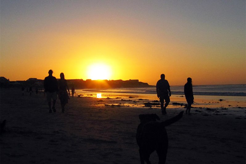 spectacular sunset beach walks