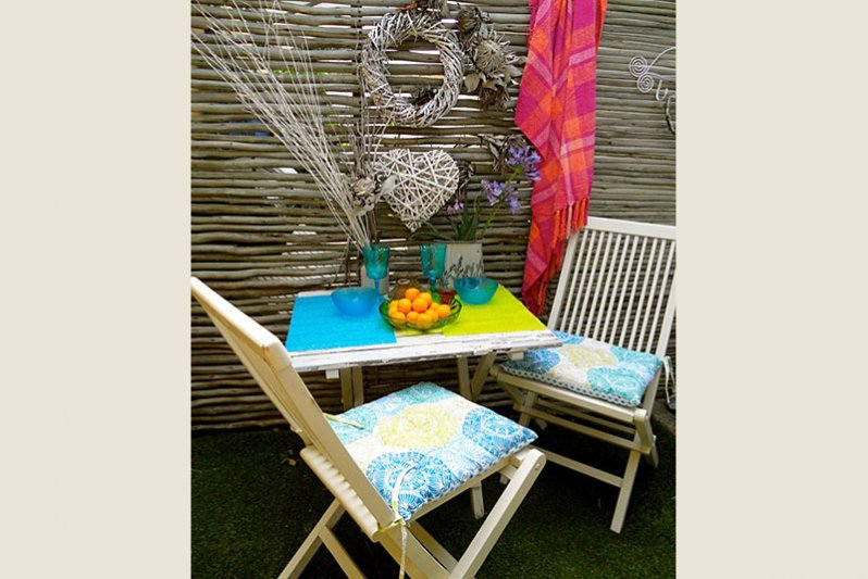 Balau Beach Studio Apartment courtyard garden