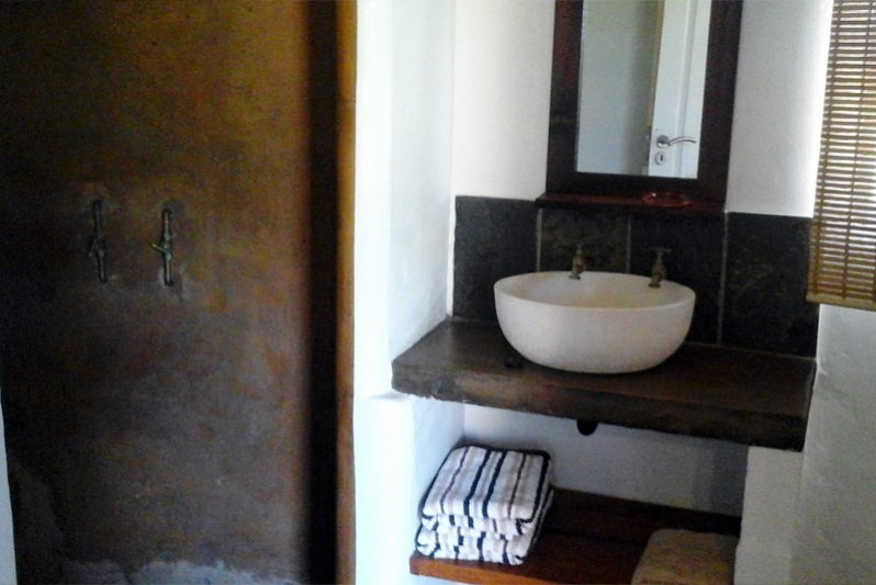 Bathroom of chalet with sep bedroom