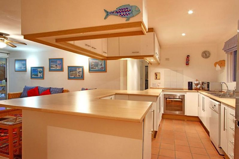 The upstairs kitchen