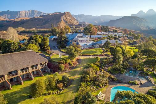 1/24 - Bird's eye view - Cathedral Peak Hotel - Hotel Accommodation in Cathedral Peak, Drakensberg