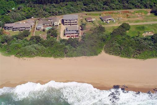 1/8 - Aerial View - Self Catering Apartment Accommodation in Blythedale Beach