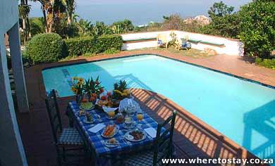 1/8 - Breakfast overlooking the ocean