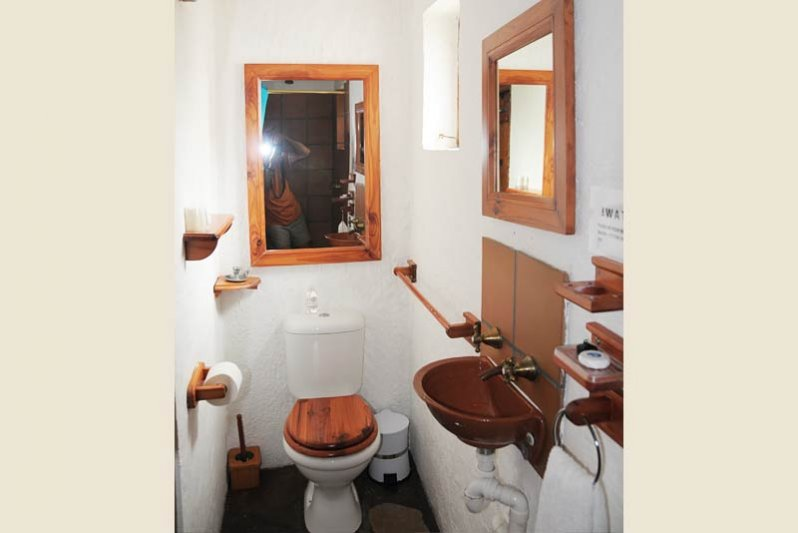 Bathroom with shower only second bedroom