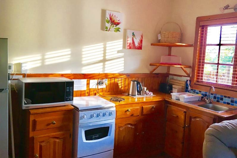 Fully equipped self-catering kitchen for your comfort