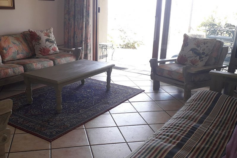living area to patio