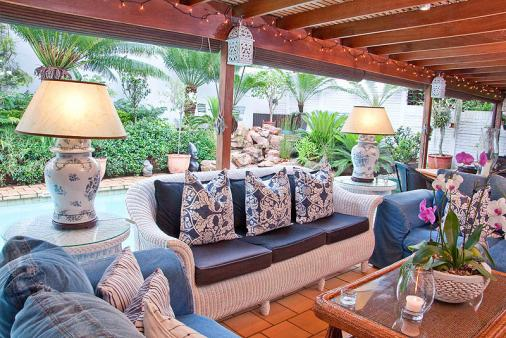 1/8 - Patio by the pool - Star Graded Bed & Breakfast Accommodation in Umhlanga Rocks