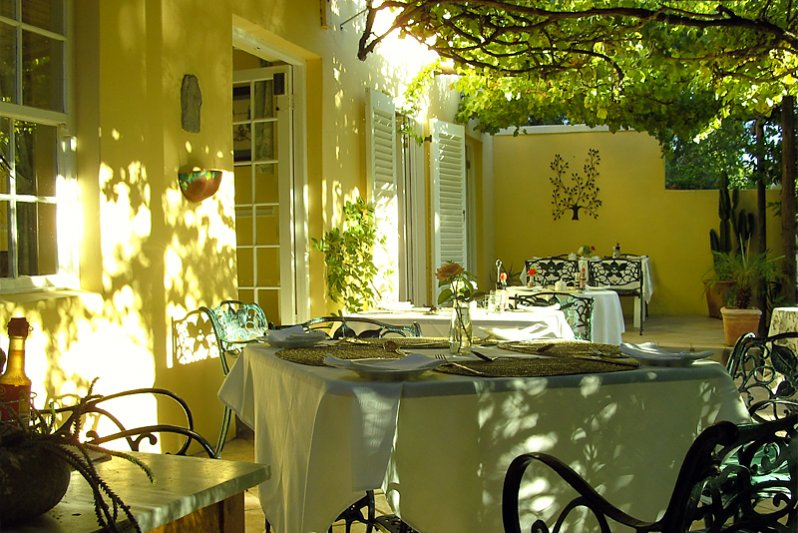Breakfast under the vines