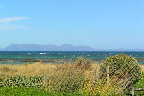 1/13 - The view from the garden across False Bay to the Cape