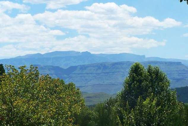 1/12 - Summer view from garden - Star Graded Bed & Breakfast Accommodation in Underberg