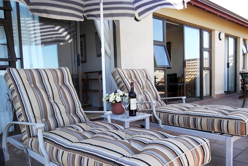Loungers on the balcony area
