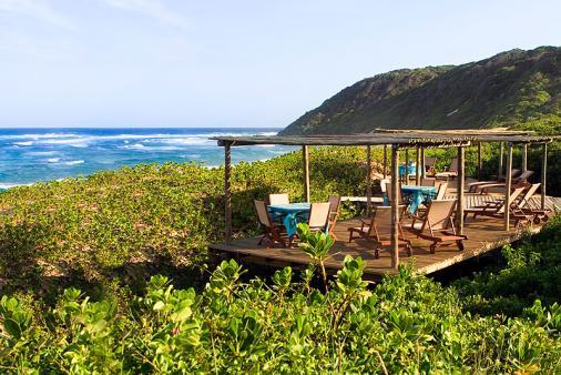 1/8 - Outer deck overlooking beach - Holiday Resort Accommodation in Mabibi, Lake Sibaya