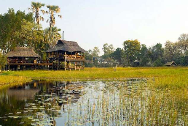 1/8 - Game reserve accommodation in Okavango Delta