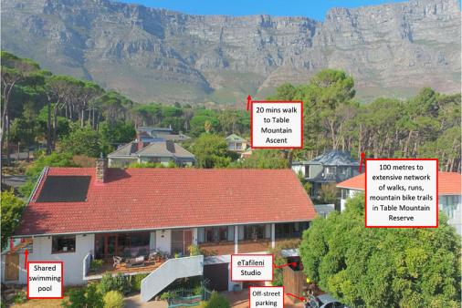 1/21 - We are 100 metres from the Table Mountain Reserve for walks, runs, rides, hikes & climbs.