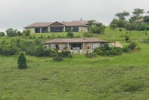 1/19 - View of house from dam - Guinea Fowl Rest Accommodation in Central Drakensberg