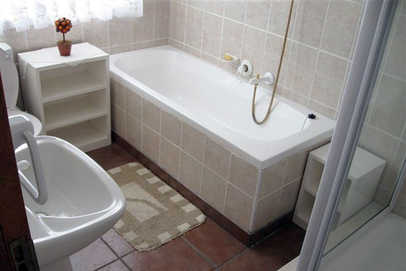 Ful Bathroom with shower and toilet. Separate toilet.