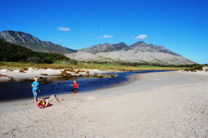 The river mouth is only a short walk and the best place on the beach for children.