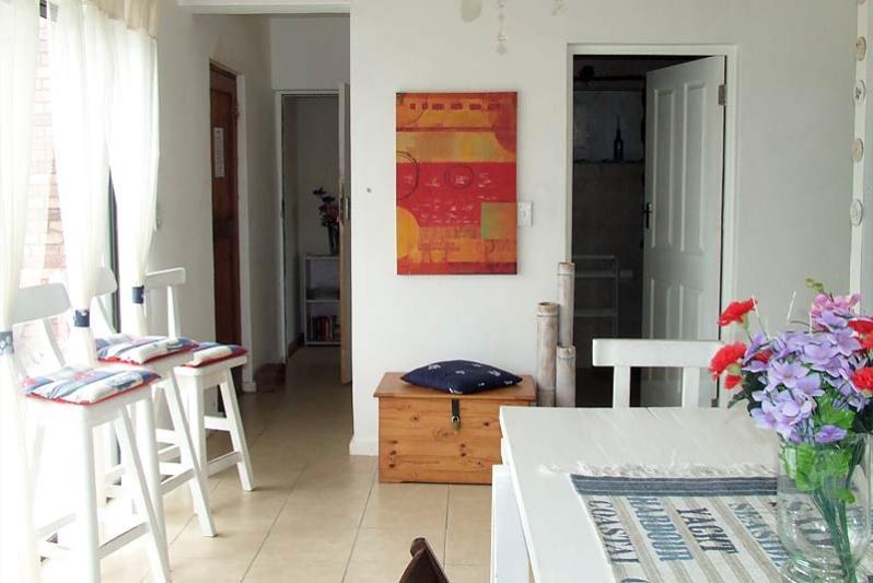 Upstairs living area with inside braai.