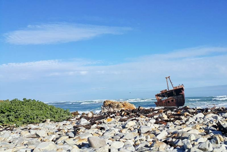 The wreck nearby
