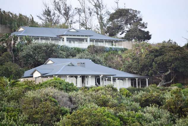 1/17 - View of the house from the beach. Grande Vue is the top house.