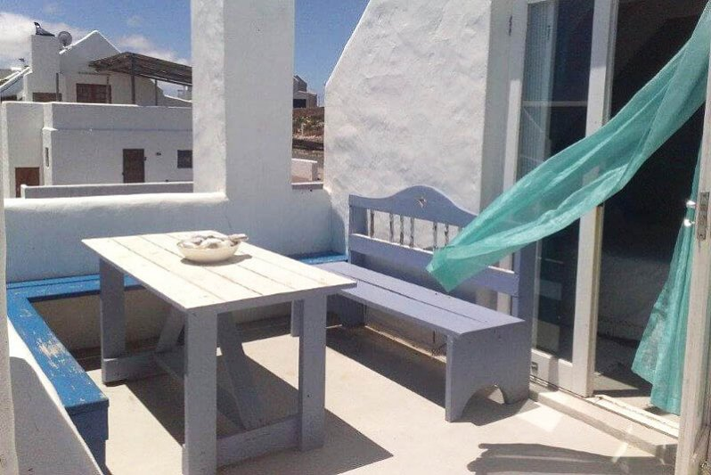 Upstairs terrace with view