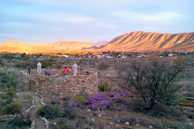 View from all the stoeps of our 4 cottages at Karoo View