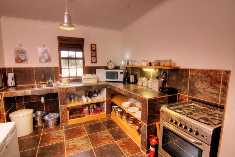Full sized fully equipped Kitchens in each of our Karoo View Cottages