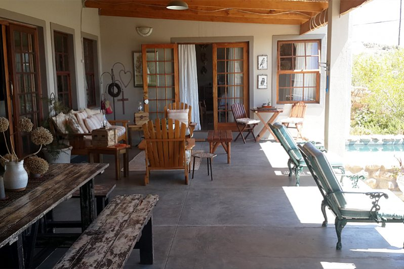 Entertainment stoep Karoo View House