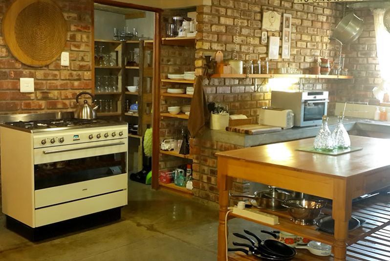 Open Plan farm style kitchen Karoo View House