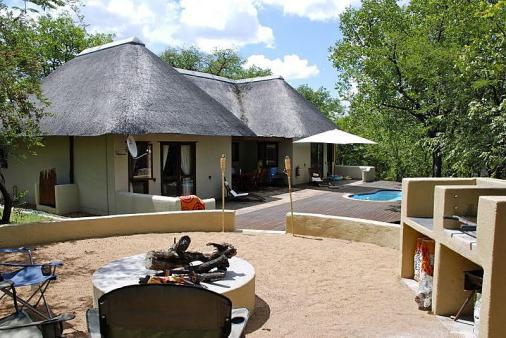 1/12 - Front view of the lodge from the Boma