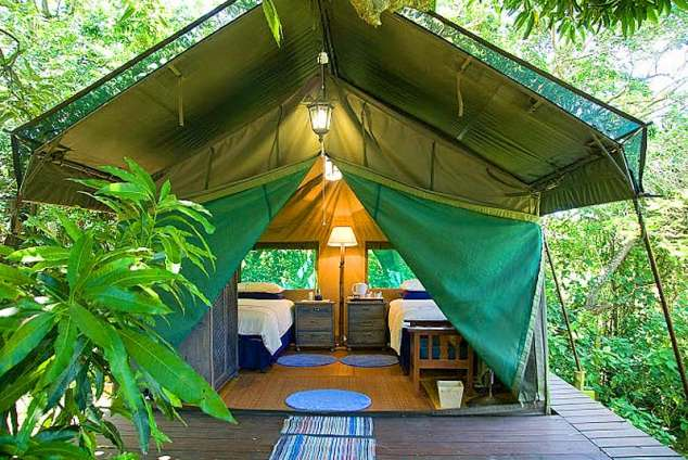 2/12 - Small Bumble Bee tent - 2 single beds - 2 persons & Thandulula Luxury Safari Tent Accommodation - Southport ...
