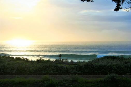 1/24 - early morning coffee & the Indian Ocean - view from balcony