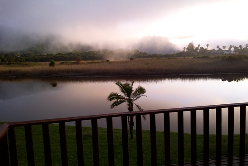 Early morning breakfast on the balcony