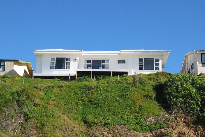 Front of house, facing the ocean