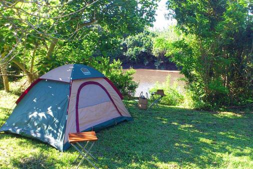 1/8 - Site 6 is a small site on the riverbank - Caravan or Camping Accommodation in Umtentweni
