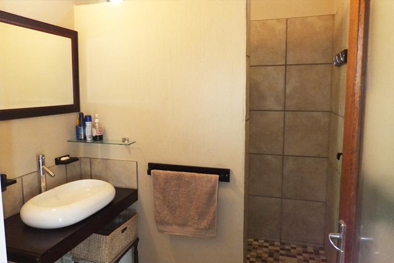 River Cottage / bathroom ( walk in shower, basin & toilet).
