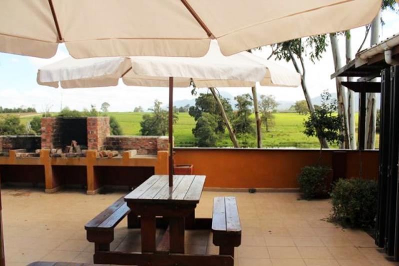 braai area of guesthouse