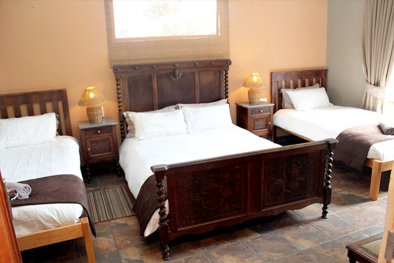 big sleeping room of cottage for 6