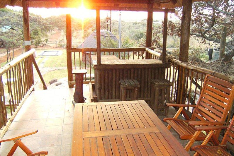 Enjoy a sundowner on the deck.