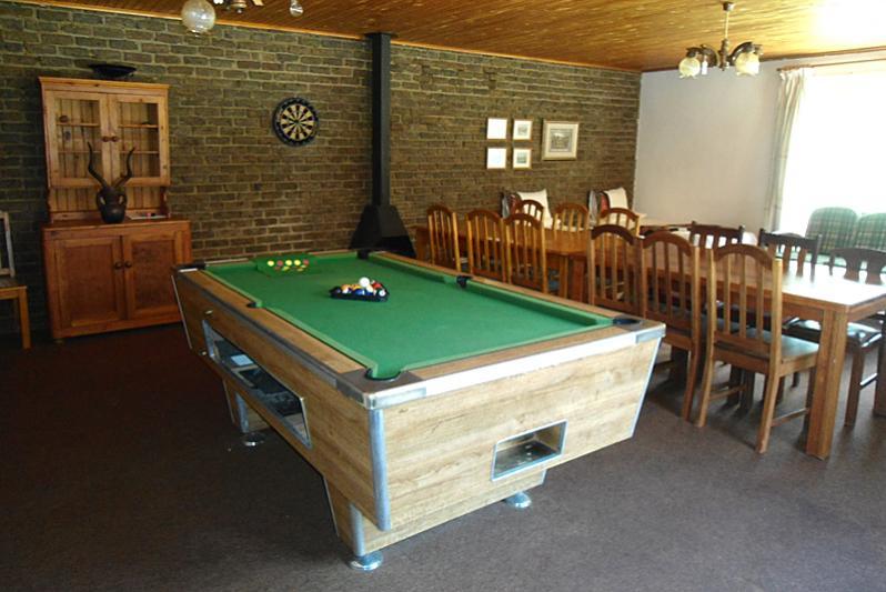 Farmhouse entertainment area