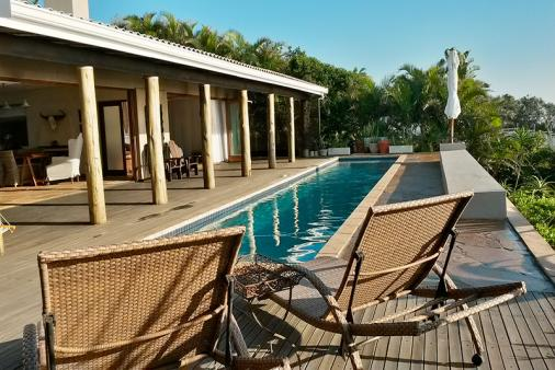 1/24 - Pool deck at Umkomazi Rocks Beach House.
