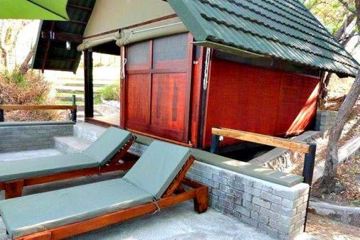 1/25 - Deck Room nestled at bottom of Campsite: Private and secluded