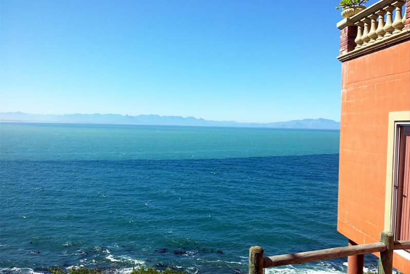 View over False Bay from outside