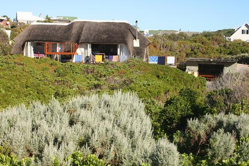 1/25 - Looking back at the cottage from the dune - Self Catering Cottage, Cape St. Francis