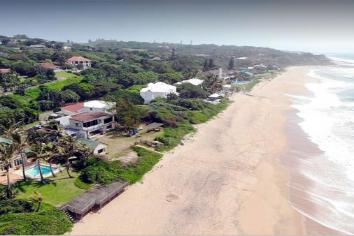 1/17 - Drone view of the beach and house.