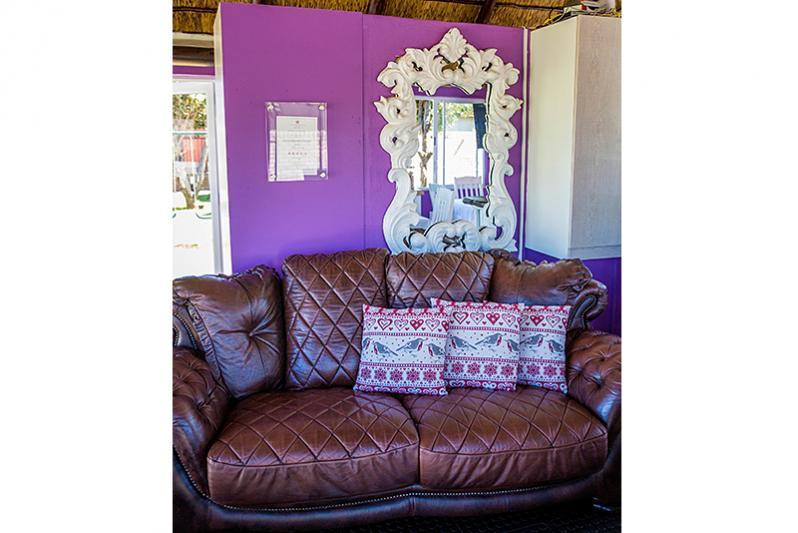 Mini lounge at Reception