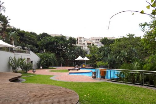 1/19 - The beautiful complex pool, just a few steps away from the apartment