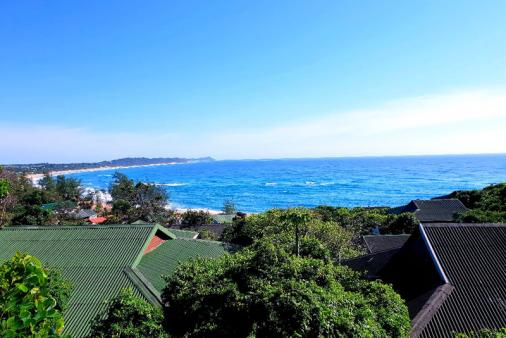 1/28 - View from our Deck over Ponta Do Oura Main Beach & Malongane in the Distance