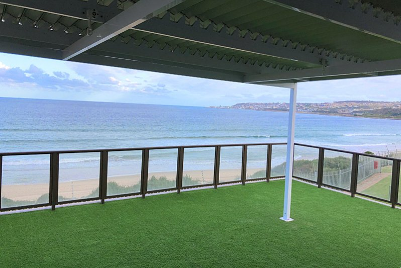 Deck with 180 degree ocean view